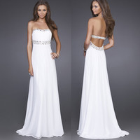 Sexy shinning Elegant Evening Dresses Sweetheart Long Formal Prom Gowns Dres