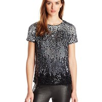 French Connection Women's Sunbeamer Sequins Top