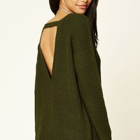 Purl Knit Cutout Sweater