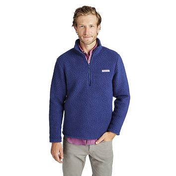 Heritage Sherpa 1/2-Zip in Moonshine by Vineyard Vines