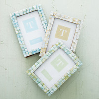 Set of 3 Mother of Pearl Tile Photo Frames 5x7 for 4x6 Photos