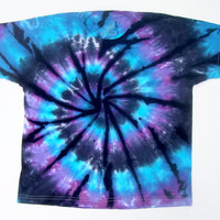 Tie Dye Shirt/ Child Small/ Moon Shadow Spiral