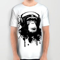 Monkey Business - White All Over Print Shirt by Nicklas Gustafsson