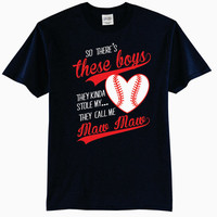 So There's These Boys, They Kinda Stole My Heart, They Call Me Maw Maw Baseball T-Shirt