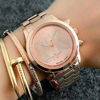 MK Michael Kors Woman Men Fashion Quartz Movement Wristwatch Watch