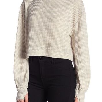 Free People | Waffle Knit Turtleneck Sweater | Nordstrom Rack