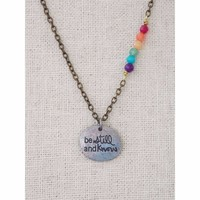 Colorful Be Still And Know Sentiment Necklace