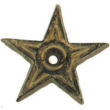 Cast Iron Star - Center Hole Small -Set Of 12