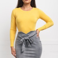 Yulie Sweater Top - Yellow