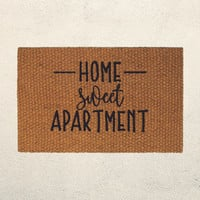 Home Sweet Apartment Doormat – Hand Painted Outdoor Rug  – Welcome Mat - Apartment Decor - Housewarming Wedding Gift