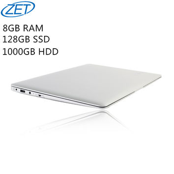 8GB Ram+128GB SSD+1000GB HDD Ultrathin Quad Core J1900 Fast Running Windows10 system Laptop Notebook Computer, free shipping