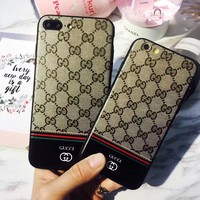 Classic Edition  GUCCI  Fashion Luxury Supreme Sliver Mirror Case For iPhone 7 7Plus 6 6s 6Plus 6s Plus