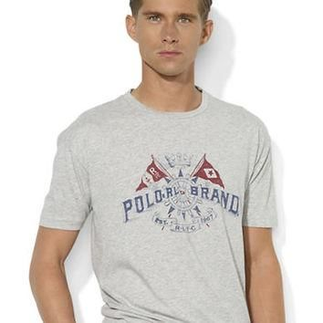 Polo Ralph Lauren Short-Sleeve Crossed-Flags Crewneck T-Shirt