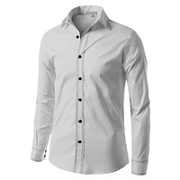 Mens Slim Fit Button Down Shirt with Double Stitch (CLEARANCE) (CLEARANCE)