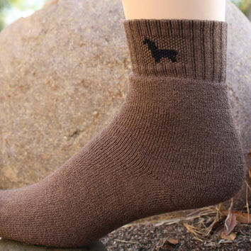 Womens Ankle Medium Weight Hunter Alpaca Socks
