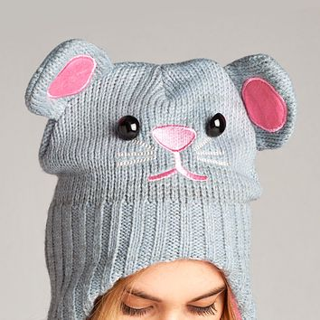 Cable Knit Character Beanie