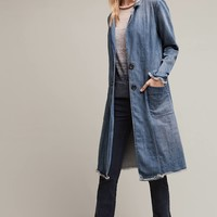 Pilcro Denim Duster Coat, Blue
