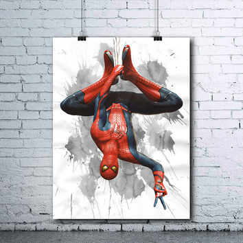 Spiderman - Spiderman Printable - Spiderman Print - Spiderman Wall Art - Spiderman Art - Spiderman printables - Spiderman Watercolor