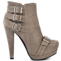 Restricted - Nikki - Grey - taupe boot booties heels