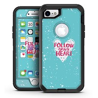 Follow your Heart Brushed - iPhone 7 or 7 Plus OtterBox Defender Case Skin Decal Kit