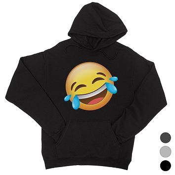 Emoji-Laughing Unisex Pullover Hoodie Happiness Good Fun Gag Gift