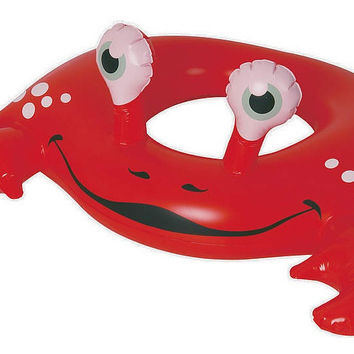 "30"" Red and White Crab Children's Inflatable Swimming Pool Swim Ring Inner Tube"