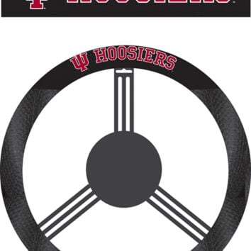NCAA Indiana Hoosiers Poly-Suede Steering Wheel Cover