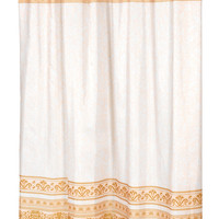 "BenandJonah Collection Fabric Shower Curtain 70 x 72"" Majestic Fleur Gold"