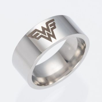 2017 Justice League Wonder Woman Stainless Steel Ring Jewelry Prop Gift New movie jewelry