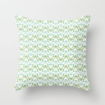Heart knit pattern 03 Throw Pillow by VessDSign | Society6