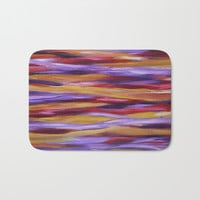 Purple Waves 2 Bath Mat by mariameesterart