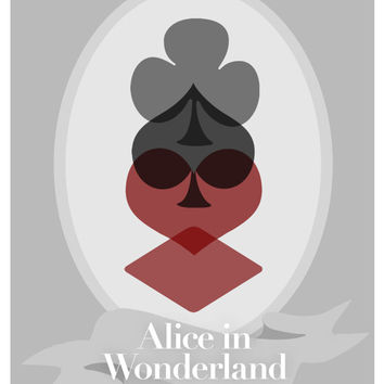 Disney's Alice in Wonderland Minimalist Poster by rowansm on Etsy