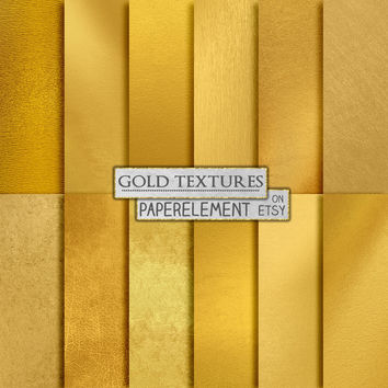 Metallic Gold Digital Paper: Gold Foil Digital Paper  with Shiny Gold Background & Gold Texture - Printable Gold Backdrop Scrapbook Download