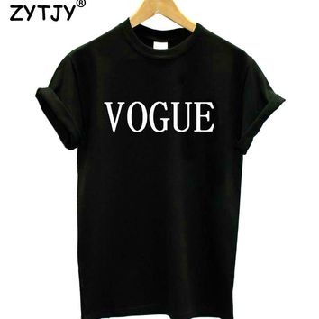 VOGUE Letters Print Women tshirt Cotton Casual Funny t shirts For Lady Girl Top Tee Hipster Drop Ship Tumblr SB04