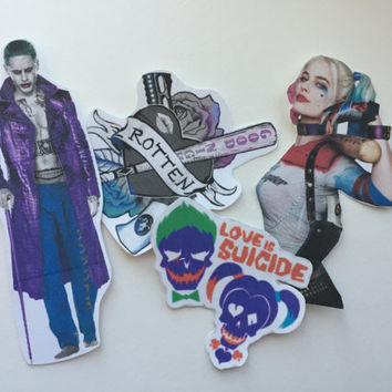 Harley Quinn and the Joker sticker set