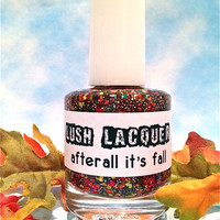 NEW--Afterall It's Fall :  Custom-Blended Glitter Nail Polish / Lacquer