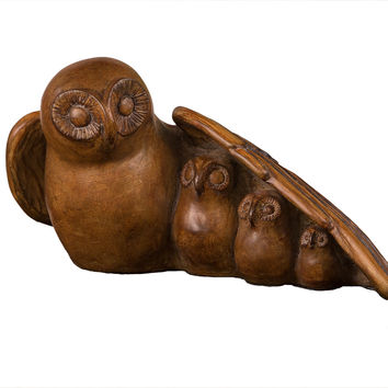 Dessau Home Wood Finish Owl Family - Pw004