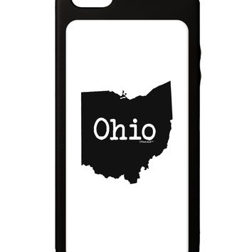 Ohio - United States Shape iPhone 5C Grip Case  by TooLoud