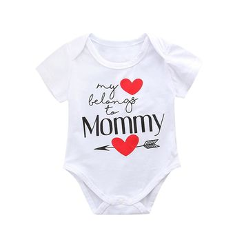 Unisex Mother's Day Letter Print Jumpsuit Outfits
