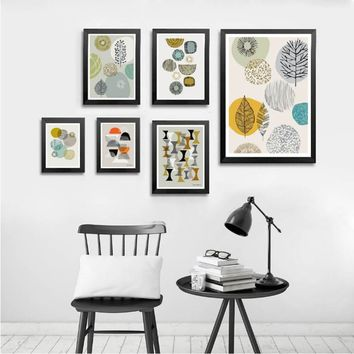 Sure Life Abstract Geometric Printable Canvas Painting Nordic Fashion Poster POP Wall Art Pictures Living Room Office Home Decor