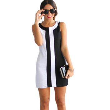Women Casual Striped Dress