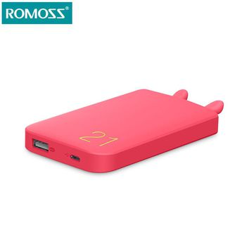 Romoss 6000mAh Power Bank Mobile Phone Powerbank cute external Battery Pack USB Fast Charge Power Supply for cellphones Tablets