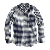 J.Crew Womens Boy Shirt In Crinkle Gingham
