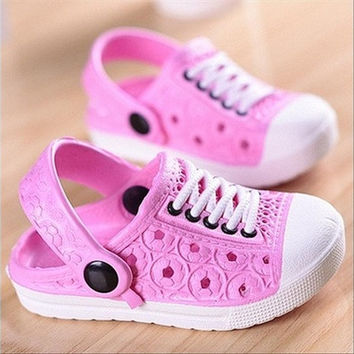 Cute Summer Kids Unisex Beach Slippers Boys Girls Sandals Clogs Shoes Cozy Breathable 20-34# [8270457857]