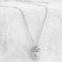 Charm Long Chain Choker Necklace Shellhard Gold Silver Color Pineapple Fruit Pendant Necklace For Women Summer Jewelry Gifts