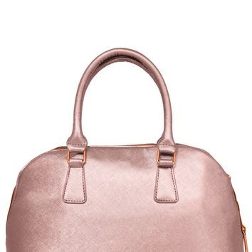 Rose Gold Bowler Insulated Lunch Handbag