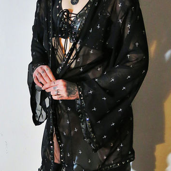 Hell Couture Towards Hell Studded Robe