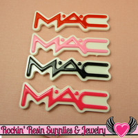 4 pcs Girly Letters Resin Decoden Flatback Cabochons 52x16mm 4 colors
