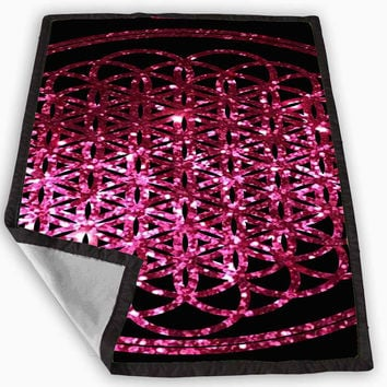 bring me the horizon album pink sparkly glitter Blanket for Kids Blanket, Fleece Blanket Cute and Awesome Blanket for your bedding, Blanket fleece **