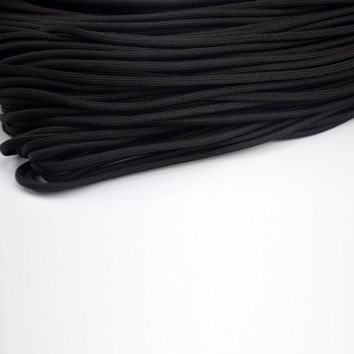 Black 100 Meter Rope Paracord Outdoor 7 Strand Cord Polypropylene Paracord Rope 550 Cord Rope Survival Braided Bracelet Paracord